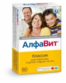 АлфаВит Классик витамины №60 таблетки