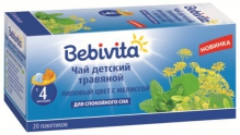 Бэбивита чай детский липовый цвет, мелисса №20 фильтр-пакеты