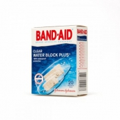 Бэнд-эйд пластырь антисептик водостойкий, прозрачный 20шт