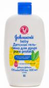 Джонсонс беби гель-пена для душа Pure Protect 300мл
