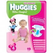 Хаггис подгузники Ultra Comfort (4) 8-14кг для девочек 19шт