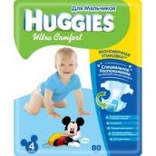 Хаггис подгузники Ultra Comfort (4) 8-14кг для мальчиков 80шт