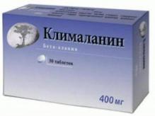 Клималанин 400мг №30 таблетки