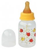 Курносики бутылочка пластиковая с латексной соской 125мл 0+, арт. 11002