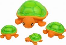 Курносики игрушка для ванны семейка черепашки 6мес+, арт. 25071