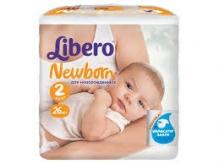 Либеро подгузники Newborn 3-6кг mini 26шт