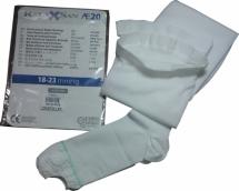 Релаксан чулки антиэмболические на резинке с открытым носком 1 класс компрессии р.4 (XL) белый